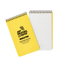 MS-A14 Modestone A14 Top Spiral Notepad 76x130mm- 50 sheets - YELLOW