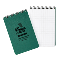MS-A33 Modestone A33 Top Spiral Notepad 96x148mm- 50 sheets - GREEN